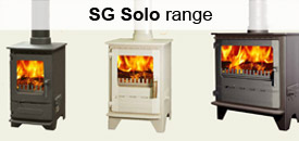 Square Glass woodburing stoves